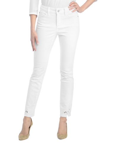 Nydj Alina Ankle Applique Jeans-WHITE-12