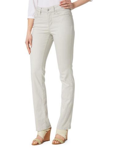 Nydj Petite Marilyn Straight Jeans-BEIGE-Petite 14