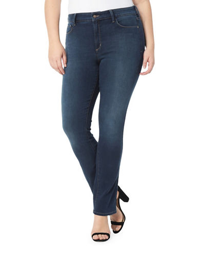Nydj Plus Plus Marilyn Straight Jeans-ROME-22W
