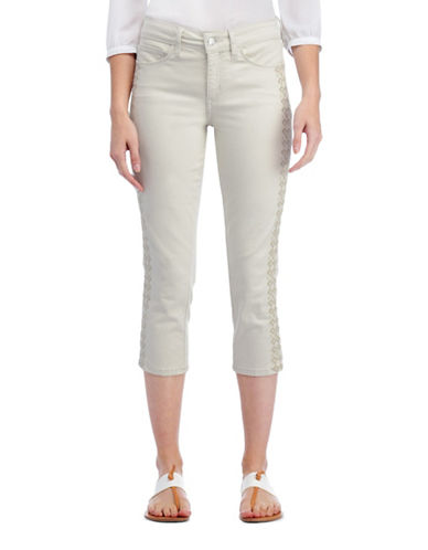 Nydj Alina Capri Jeans with Embroidery-CLAY-10