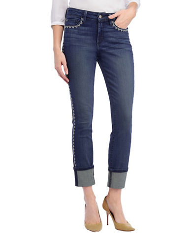 Nydj Plus Plus Moorea Embroidered Jeans-BLUE-22W
