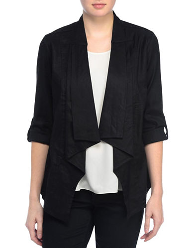 Nydj Cascade Drape Jacket-BLACK-X-Small