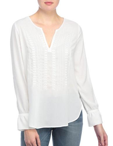 Nydj Kori Embroidered Blouse-WHITE-Large