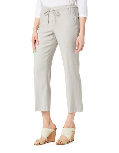 Nydj Jamie Relaxed Ankle Drawstring Jeans-GREY-8