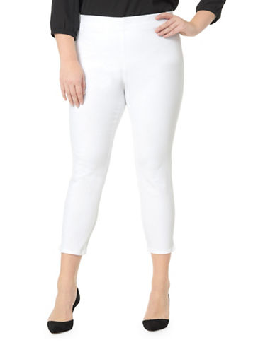 Nydj Plus Alina Ankle Pants-WHITE-14W