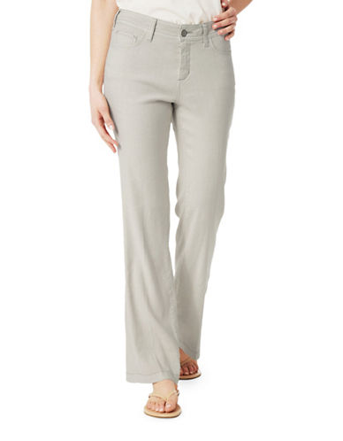 Nydj Wylie Flared Cuff Trousers-GREY-12