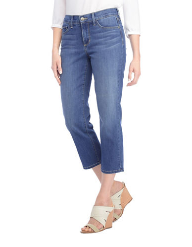 Nydj Plus Plus Marilyn Relaxed Capri Jeans-BLUE-20W