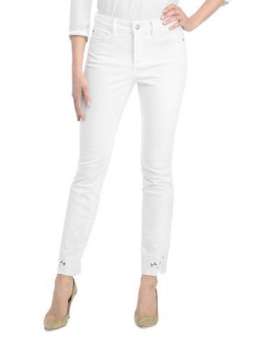 Nydj Petite Alina Ankle Applique Jeans-NATURAL-Petite 8