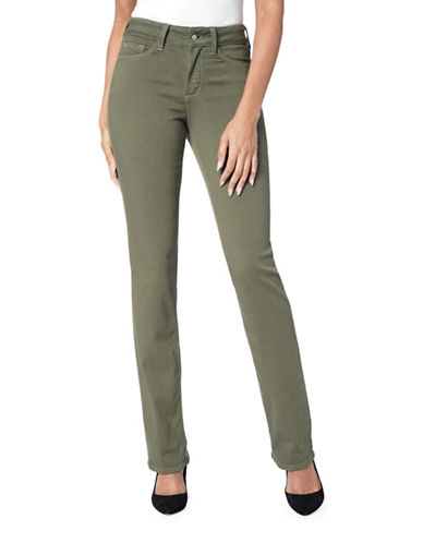 Nydj Marilyn In Luxury Touch Pants-GREEN-4