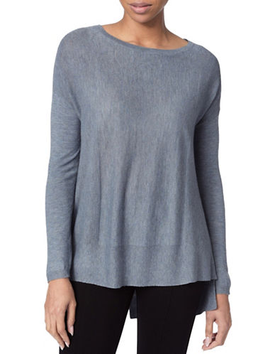 Nydj Versatile Long-Sleeve Top-BLUE-Medium