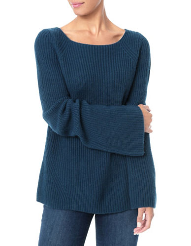 Nydj Wool-Blend Bell Sleeve Sweater-BLUE-X-Small