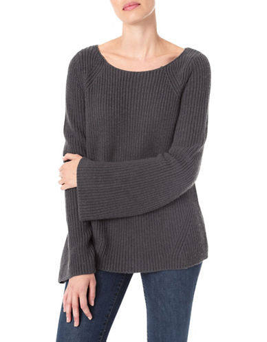 Nydj Wool-Blend Bell Sleeve Sweater-GREY-Large