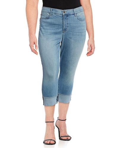Nydj Plus Plus Wide Cuff Capri Jeans-BLUE-20W
