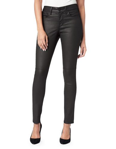 Nydj Ami Coated Skinny Jeans-BLACK-10