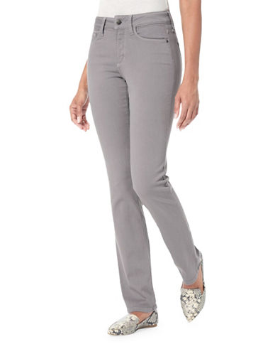 Nydj Petite Marilyn In Luxury Touch Straight-Leg Pants-MINERAL-Petite 4