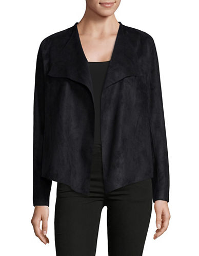Nydj Drapey Faux Suede Jacket-BLACK-Small