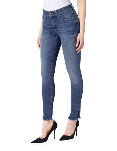 Nydj Mid-Rise Skinny Ankle Jeans-BLUE-14
