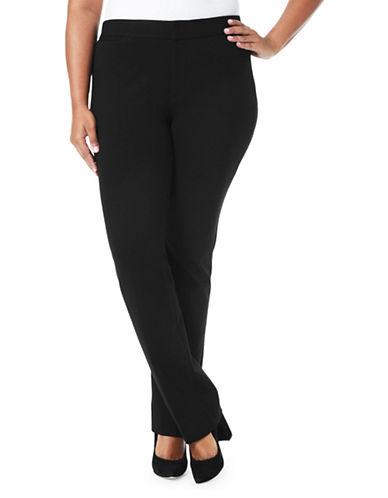Nydj Plus Plus Blocked Trousers-BLACK-16W
