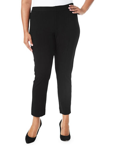 Nydj Plus Plus Ankle Length Pants-BLACK-14W