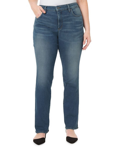 Nydj Plus Plus Marilyn Straight Jeans-NOMA-20W