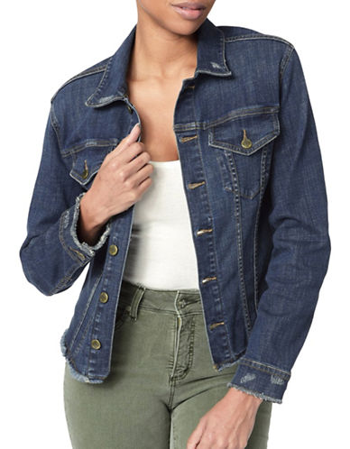 Nydj Casual Denim Jacket-BLUE-X-Small