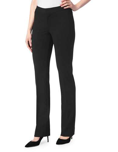 Nydj Straight-Fit Trousers-BLACK-Petite 12