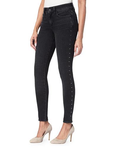 Nydj Metallic-Stud Skinny Jeans-BLUE-Petite 8