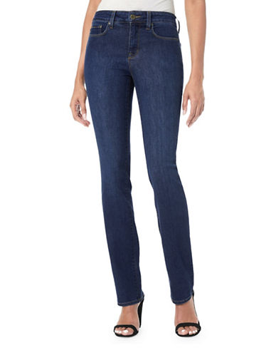Nydj Marilyn Straight Jeans-BLUE-4