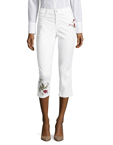 Nydj Alina Floral Embroidery Capris-NATURAL-12