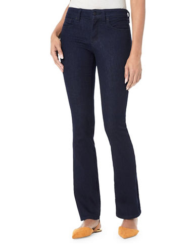 Nydj Billie Mini Bootcut Jeans-BLUE-Petite 0