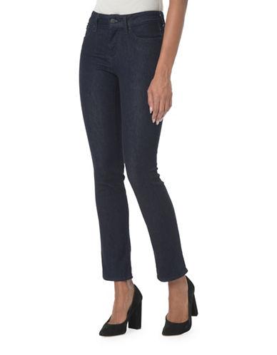 Nydj Sheri Slim Straight Jeans-BLUE-Petite 4