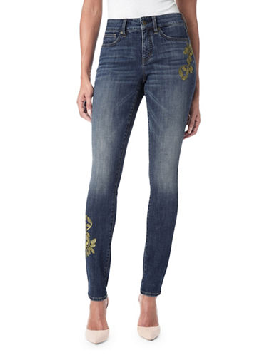 Nydj Alina Contrast Embroidered Jeans-BLUE-12