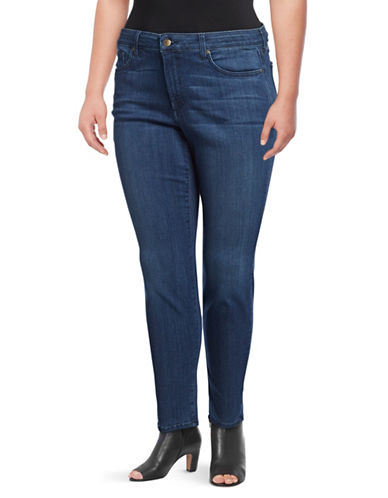 Nydj Plus Plus Ami Skinny Jeans-BLUE-14W