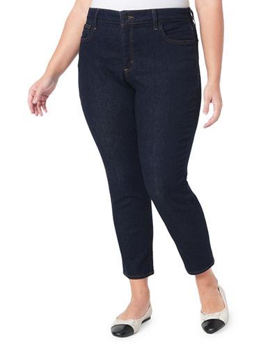 Nydj Plus Alina Ankle-Rinse Jeans-BLUE-14W