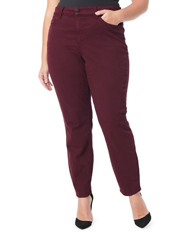 Nydj Plus Plus Alina Leggings-RED-18W