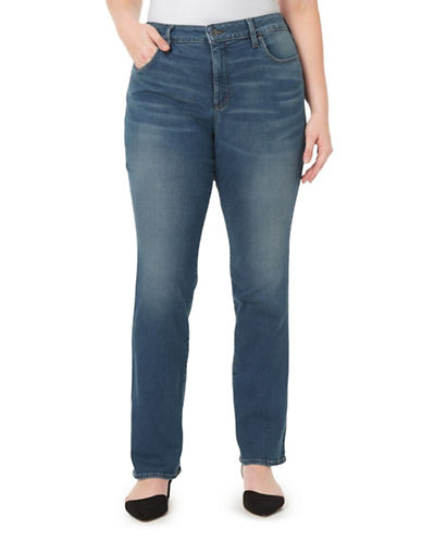 Nydj Plus Marilyn Straight Jeans-MORGAN-16W