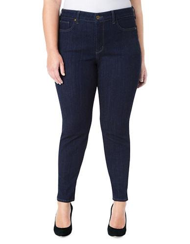 Nydj Plus Plus Ami Skinny Jeans-DARK BLUE-18W