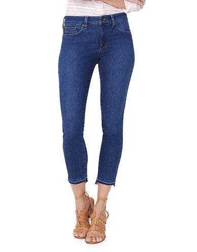 Nydj Raw Hem Cropped Jeans-BLUE-4