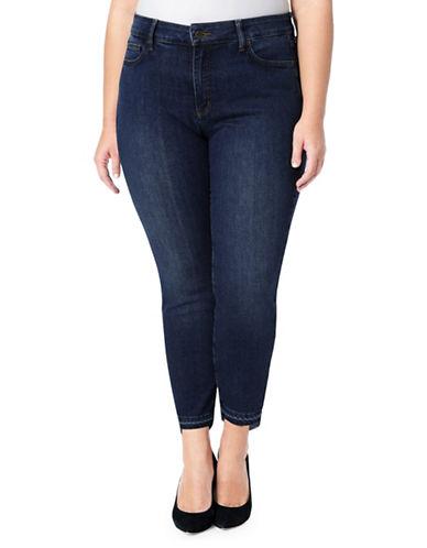 Nydj Plus Alina Ankle Step Release Hem Jeans-BLUE-18W