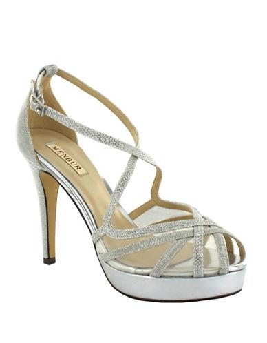 Menbur Rosa Glitter Sandals-SILVER-9