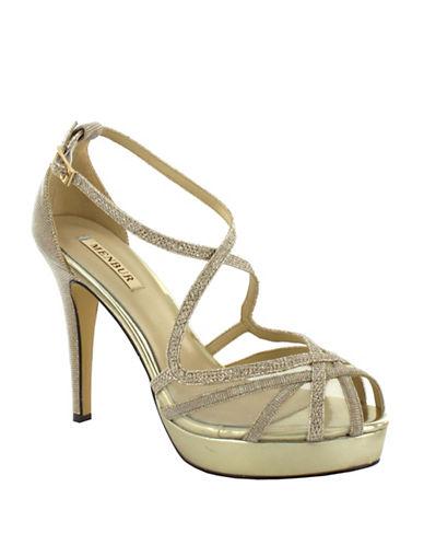 Menbur Rosa Glitter Sandals-STONE-9