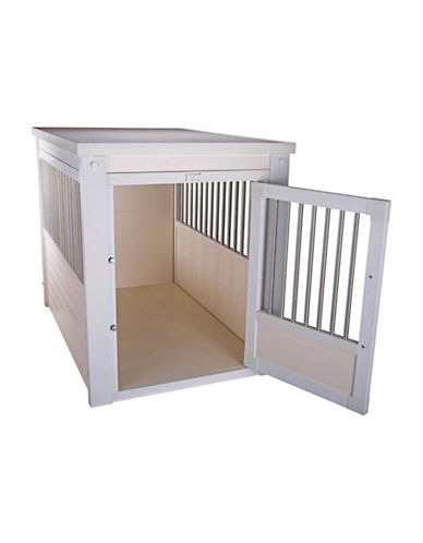Ecoflex Pet Crate with Spindles-WHITE-One Size