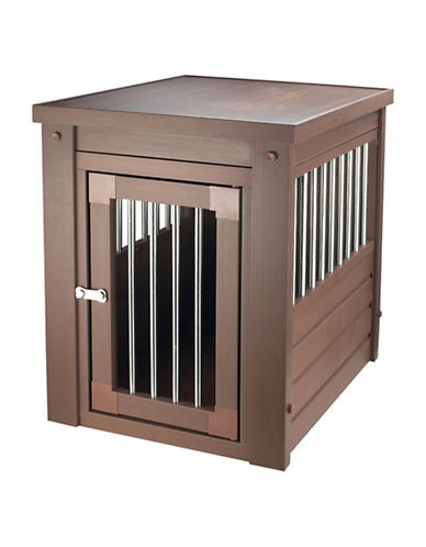 Ecoflex Pet Crate with Spindles-BROWN-One Size