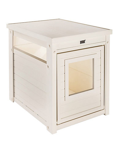 Ecoflex Litter Loo End Table-WHITE-One Size