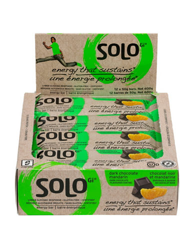 Solo 12 Dark Chocolate Mandarin Energy Bars-NO COLOUR-One Size