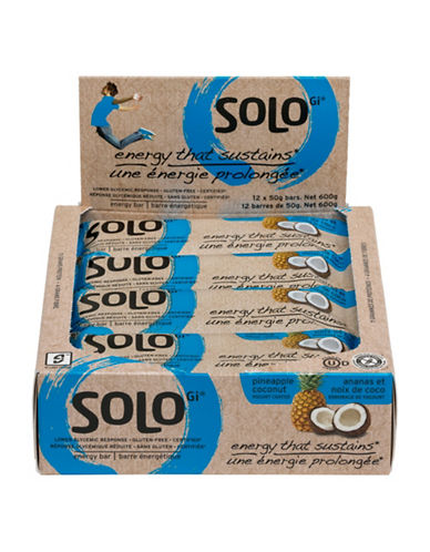 Solo 12 Pineapple Coconut Energy Bars-NO COLOUR-One Size