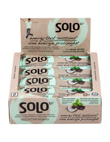 Solo 12 Dark Chocolate Coconut Mint Energy Bars-NO COLOUR-One Size