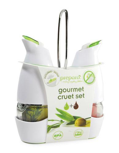 Prepara Gourmet Cruet Set-WHITE-One Size