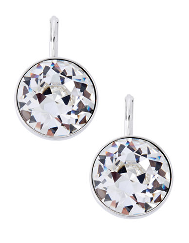 Swarovski Bella Crystal Pierced Earrings-SILVER-One Size