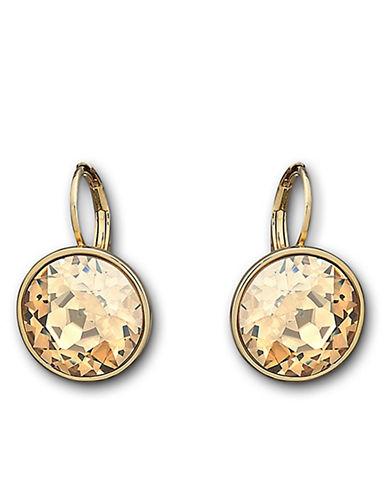 Swarovski Bella Crystal Pierced Earrings-GOLD-One Size